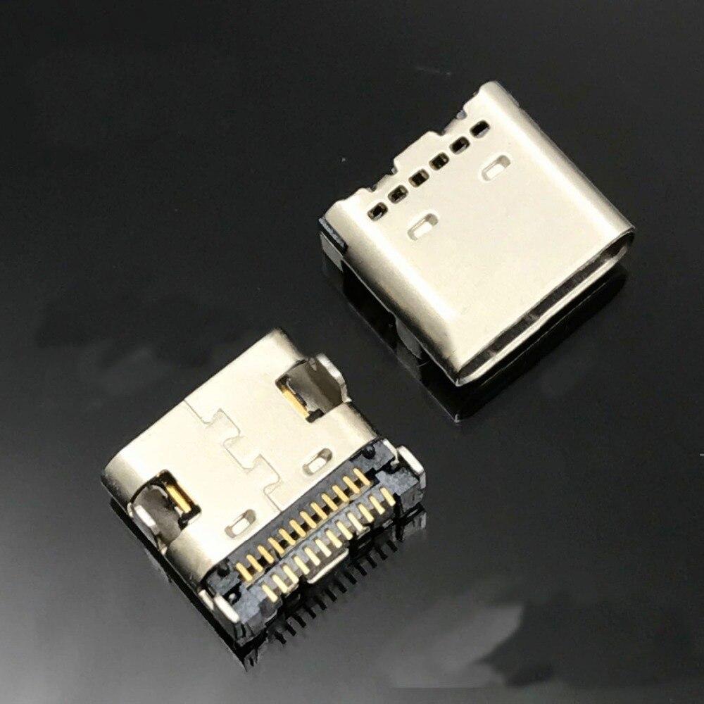 100 stücke USB 3.1 Typ C Anschlüsse 24 Pin Receptacle Right Angle 3,1 USB C PCB SMT Zweireihigen Tab Buchse-in Steckverbinder aus Licht & Beleuchtung bei AliExpress - 11.11_Doppel-11Tag der Singles 1