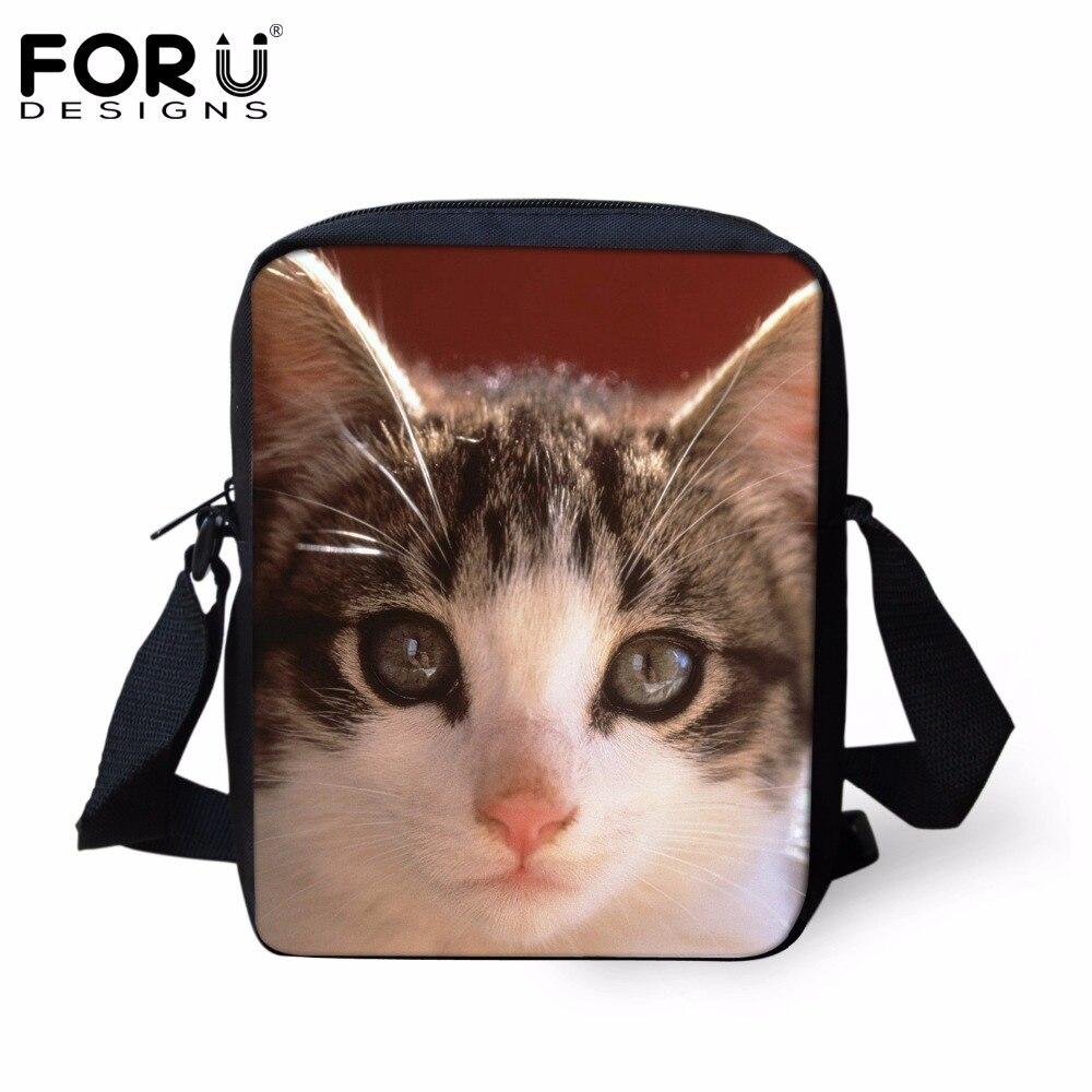 FORUDESIGNS Cute Animal Cat Dog Pattern School Bags for Baby Girls Small Children Book Bags Kindergarten Kids Schoolbags Mochila