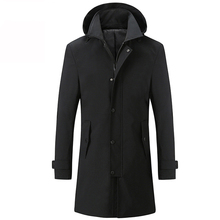 Men Trench Autumn Jacket Long Trench Coat Men Top Quality Slim Black Male Overcoat Mens Khaki Coat Trenchcoat Windbreaker