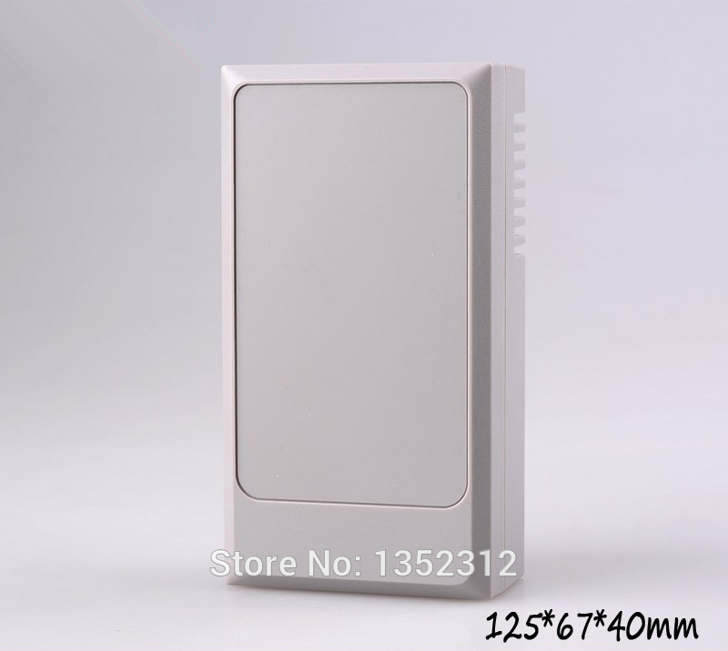 12 pcs/lot 125*67*40mm ABS plastic enclosure wall mount case project box for electronic DIY outlet box with ears control box