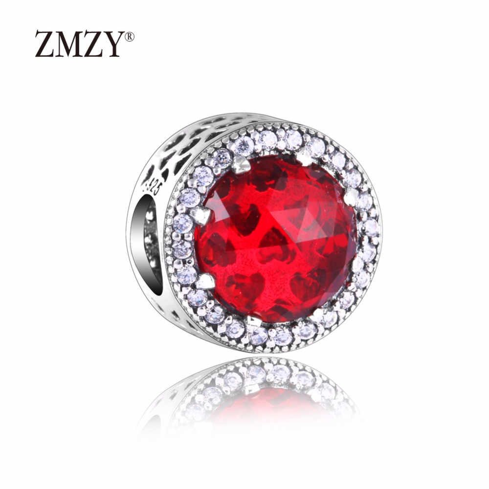 b4cc83840b15 っZMZY auténtico 925 encantos de plata esterlina resumen rojo ...