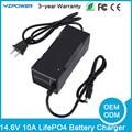 Universal 14.6 V 10A LifePO4 Carregador de Bateria Inteligente de Recarga Com FCC do CE Rohs SAA
