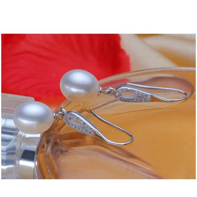 FENASY Pearl earring, Pearl with 925 Sterling Silver earrings,wedding Birthday gift Jewelry Women fashion earrings ,E017