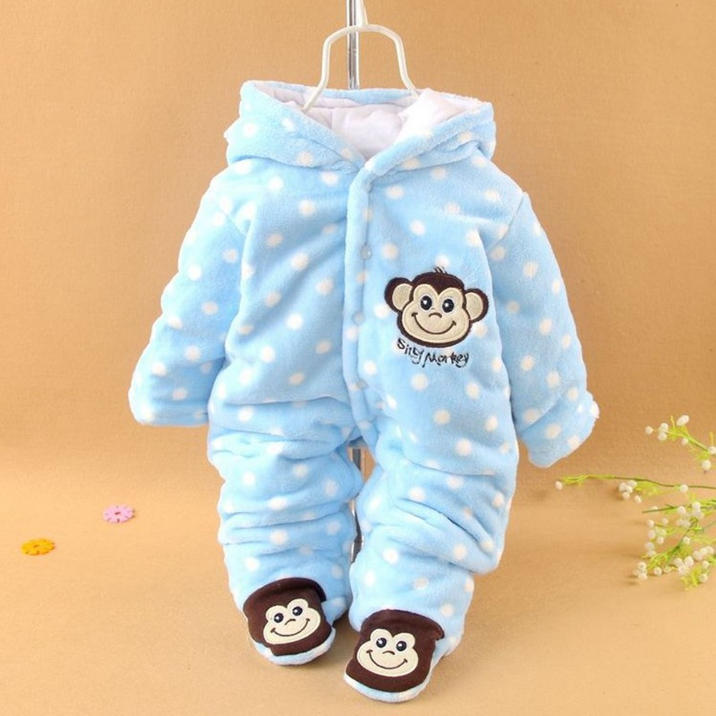 42f42ecf3f1b4 2017 New Baby Autumn Winter Romper Coral Fleece Thick Newborn Baby Girl Warm  JumpsuitFashion Baby Boy's Wear Kid Climb Clothes-in Rompers from Mother &  Kids ...