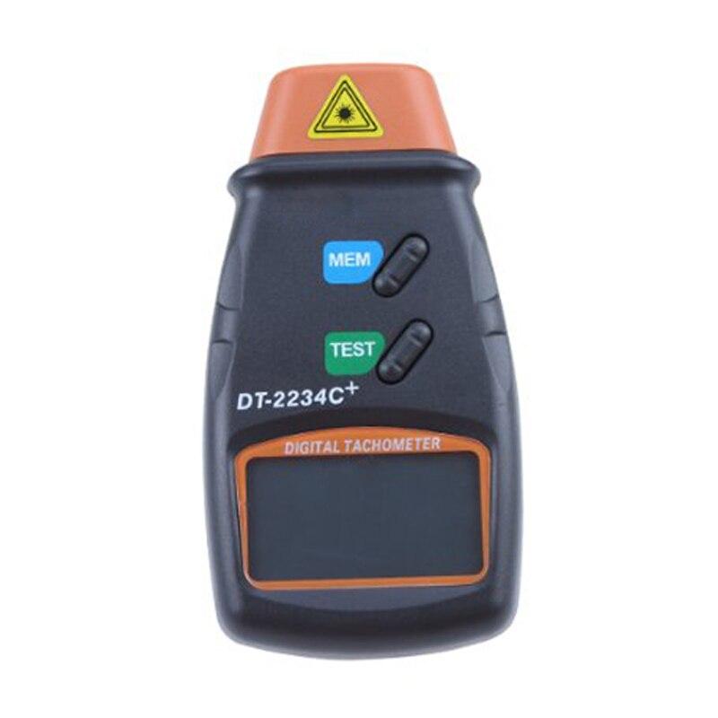 Profissional Digital Laser Foto Tacômetro sem Contato RPM Tach Laranja + Preto