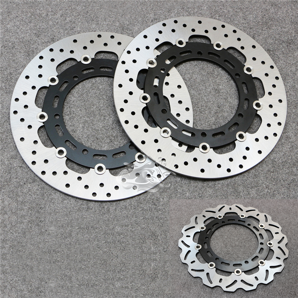 Floating Front Brake Disc Rotor For Motorcycle Yamaha XJ600 TDM900 FZS1000 BT1100 XVS1100 FJR1300 XJR1300 XVS1300 mfs motor motorcycle part front rear brake discs rotor for yamaha yzf r6 2003 2004 2005 yzfr6 03 04 05 gold