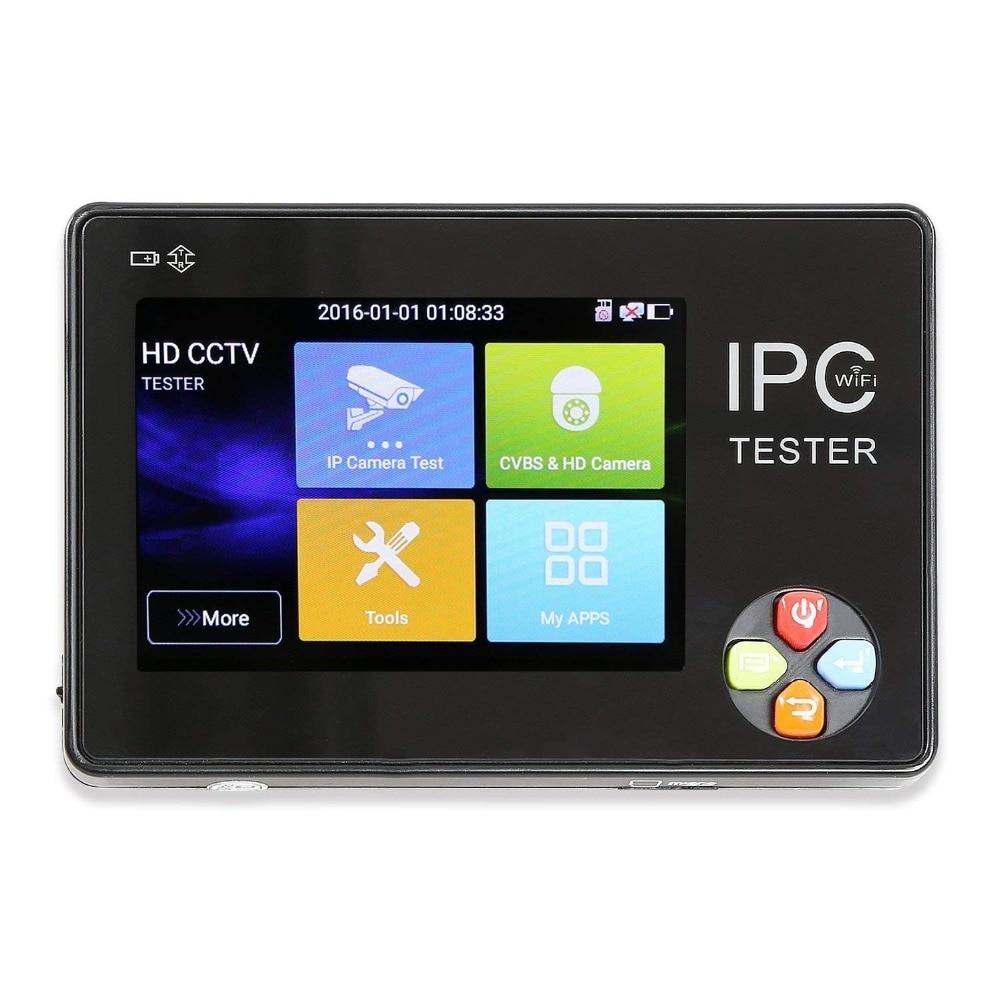 цена на 3.5 Inch H.265 4K IP CCTV Tester Monitor IP AHD CVI CVBS TVI Camera Tester 8MP 5MP 4MP ONVIF PTZ WIFI 12V1A Output