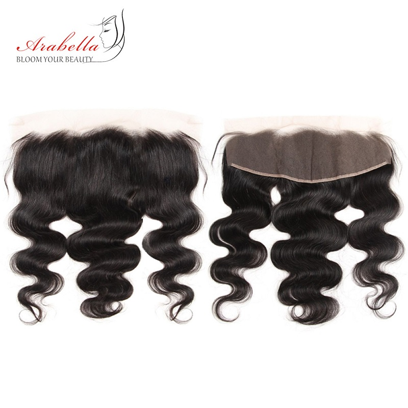 Body Wave Hair Bundles With 13X4 Lace Frontal Arabella Pre Plucked 100%  Lace Frontal With Bundles 5