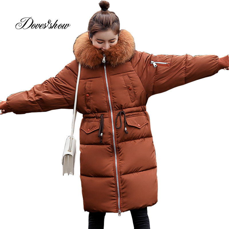 Hooded Fur Collar Winter   Down     Coat   Jacket Long Warm Women Cotton-padded Casaco Feminino Abrigos Mujer Invierno Parkas Outwear 08
