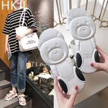 HKJL Sandals lady 2019 summer new Korean version open-toe bear sole platform shoes A110