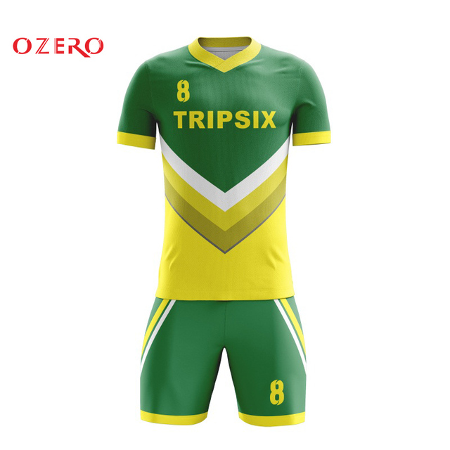 OZERO Hot sale men yellow soccer jersey a4f68c745