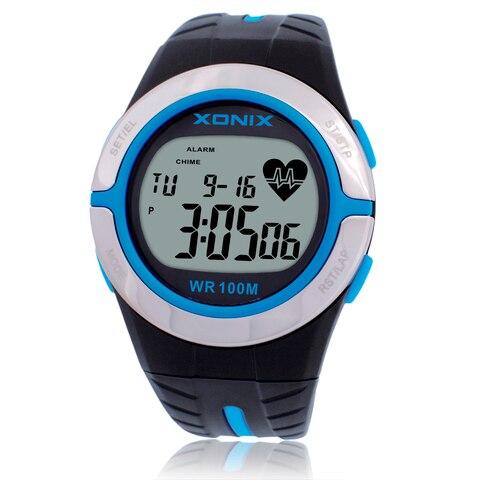 Monitor de Freqüência Relógios à Prova Homem e Mulher Está Quente! Cardíaca Unisex Esporte Dwaterproof Água 100m Relógio Digital Correndo Mergulho Mão Montre Homme