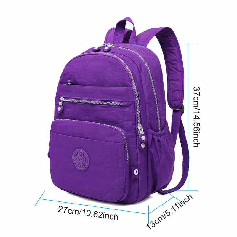 2020 nuove Donne Zaino Impermeabile Zaino Scuola Femminile Sac A Dos Mini Zaini Casual Borse Da Scuola Per Le Ragazze Adolescenti Bagpack