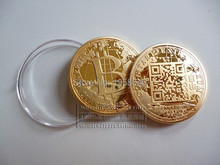 Gold Plated Bitcoin Coin Collectible BTC Art Collection Gift Physical coin,10pcs/lot free shipping