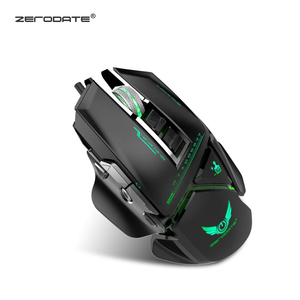 Image 3 - ZERODATE X400GY 11 key USB wired optical gaming mouse with LED light 3200DPI adjustable weight for PC laptop programmable