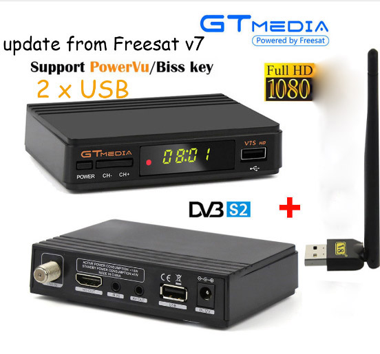 5pcs Freesat Mini Digital Satellite TV box receiver V7S HD DVBS2 Suppport Youtube Powervu CCam Newcamd Network Sharing V7S hellobox gsky v7 5pcs hd powervu autoroll iks ccam dvb s2 receiver tv box better than freesat support tandberg patch