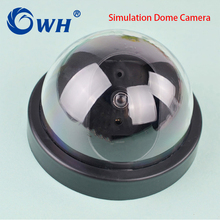 CWH Simulation Camera Dome Fake Camera Realistic Looking Motion Detection Security Dummy Camera Support Battery
