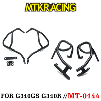MTKRACING Motorcycle Engine Bumper Guard Crash Bars Protector Steel For G 310GS 310R G310R G310GS 2018 2019 2 colors