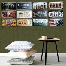 Beer license plate Metal Painting Retro Signs Vintage Wall Bar Ktv Coffee Home Art Decor 30X15CM B-509B