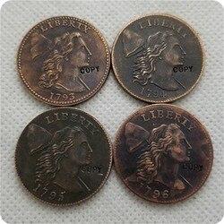 Коллекционные монеты 1793,1794,1795,1796, LIBERTY CAP, большой цент, копия памятных монет, Реплика монет, медаль, коллекционные монеты
