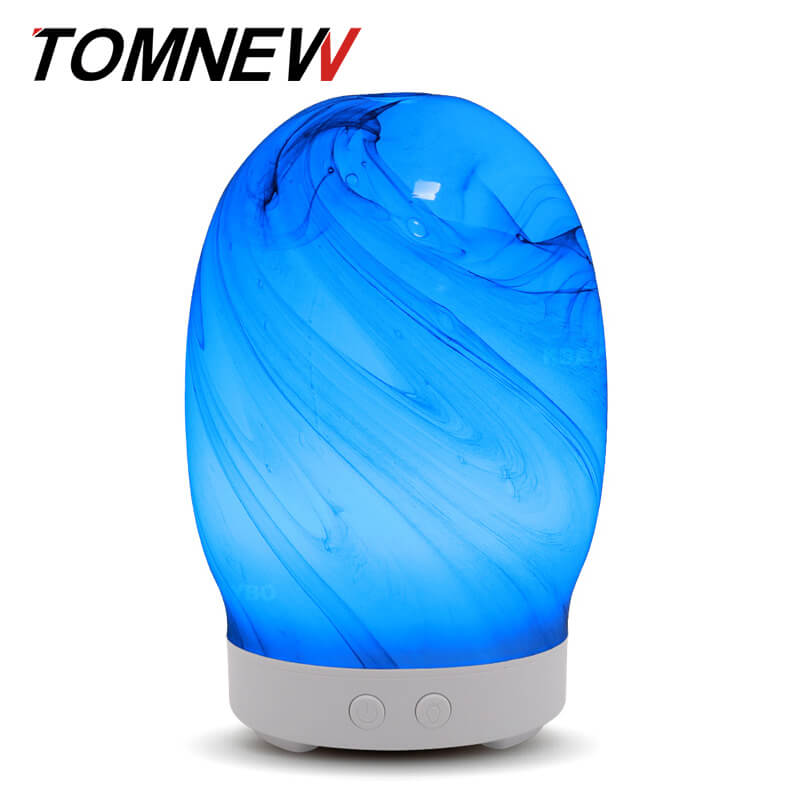 все цены на TOMNEW 100ml Glass Aromatherapy Ultrasonic Essential Oil Diffuser Essential Oils Cool Mist Humidifier for Home Bedroom or Yoga онлайн