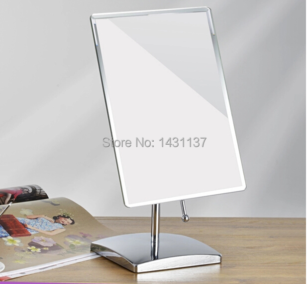 ФОТО Chrome high quality Square make up mirror brass material single faced mirror for office or bathroom