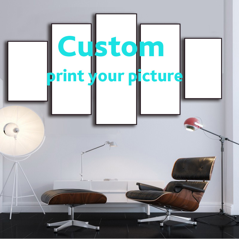 5 Pieces Painting Calligraphy Wall Poster custom Wall Art Canvas Prints Landscape Style Tableau Pictures Home Decor Paintings -in Painting u0026 Calligraphy ...  sc 1 st  AliExpress.com & 5 Pieces Painting Calligraphy Wall Poster custom Wall Art Canvas ...