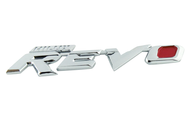 Auto car Chrome Red HILUX REVO for REVO M70 M80 Emblem Badge Sticker auto chrome for 2008 2013 genesis front rear wing emblem badge sticker