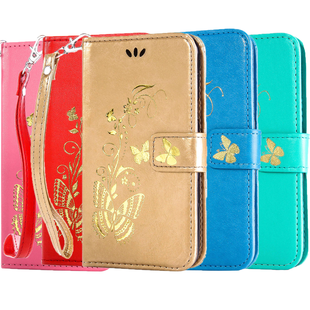 Flip Gilding Butterfly Wallet Leather Case For Samsung Galaxy 2016 J3 J310 J1 J5 J7 A3 A7 A5 2016 J1 Mini J1Ace G530 G360 Covers