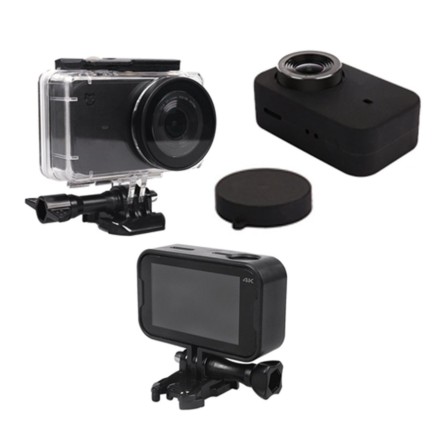 цена на Mijia Waterproof Housing Case Box + Frame Shell Cover + Skin Case Cover + Lens Cap Protector for Xiaomi Mijia 4K Accessories Kit
