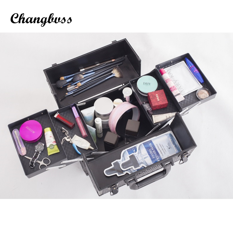 цены Women Make Up Bag Cosmetic Necessaire Lady Professional Makeup Organizer Big Size Fashion Dresser Makeup Box Travel Organizer