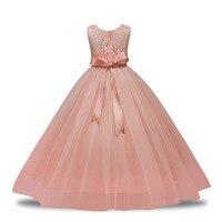 שמלות ילדה פרח אופנה לבן PluckyStar Jurk אלמוגים בצבע בז 'שמלות ילדה שמלות ילדים יפים לנערות המפלגה תלבש D10