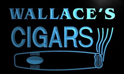 x0264-tm Wallaces Cigars Bar Custom Personalized Name Neon Sign Wholesale Dropshipping On/Off Switch 7 Colors DHL