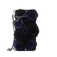 3D Elegant Black Rose Fiore Borsa di Cuoio di Vibrazione Del Raccoglitore per Samsung Note 8 Bordo S7 S8 per iPhone X 8 7 6 6 s Più 5 s copertura