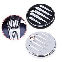 New 1 Pc Black Silver Billet Aluminum Motorcycle Deep Cut Fuel Tank Covers For Harley CVO