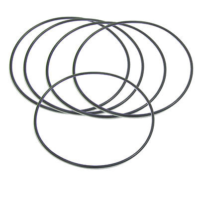 5 Pcs 110mm x 2.4mm Black Silicone O Rings Oil Seals Gaskets