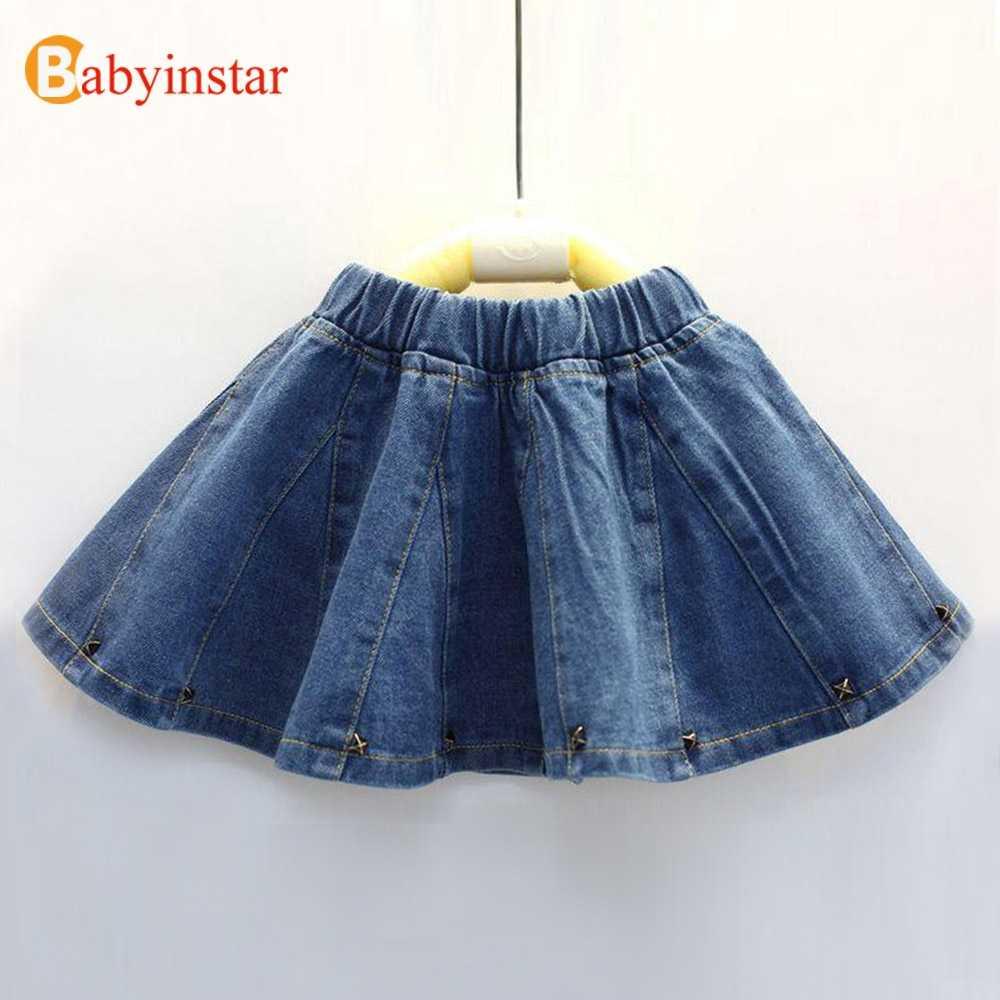 7e0233fd0 Fanfiluca faldas de bebé niña falda sólida de mezclilla ropa de moda ...