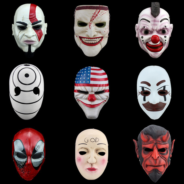 Collectible Resin Games Harvest Day Halloween masks resin horror ...
