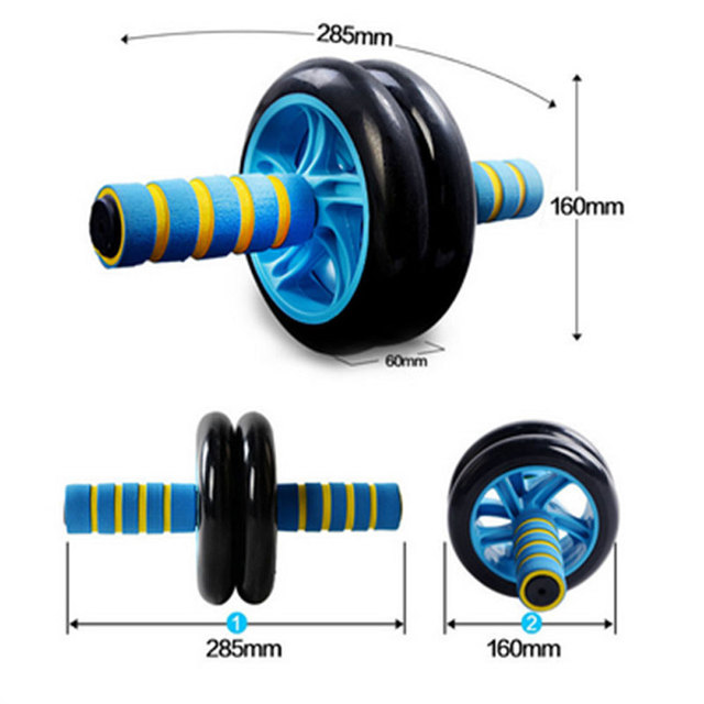 No Noise Abdominal Wheel Ab Roller Dual Rolling Wheel  Ab Roller Wheel for Exercise Fitness