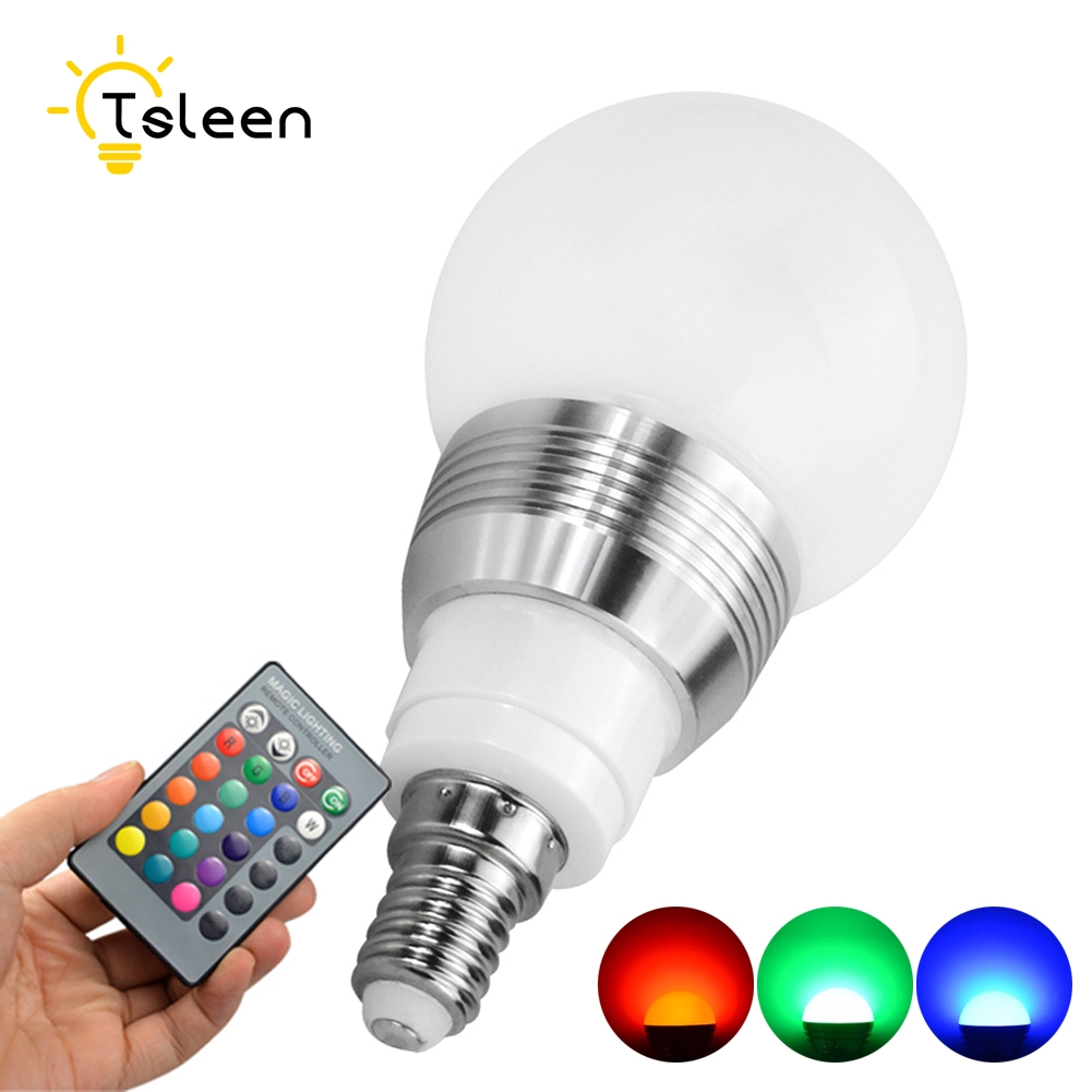 RGB LED Lamp 3W/5W E27 E14 AC 85~265V Lampada LED RGB Bulb LED Light Christmas Lights 16 Colors Change + IR Remote Controller 10w e27 led bulb lamp rgb stage light 12 colors led lights for home remote control brightness timing ac 85 265v rgb cool white