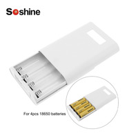 Soshine E3S Power Bank 18650 Battery Charger Device 18650 LCD Powerbanks Mobile Charger Bank with Protective Circuit + USB Cable