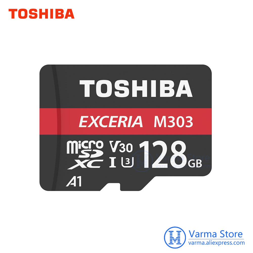 TOSHIBA EXCERIA M303 micro sd Card 128GB micro SD memory card UHS-I 128GB 98MB/S Class10 4K UltraHD Flash Card microSDXC