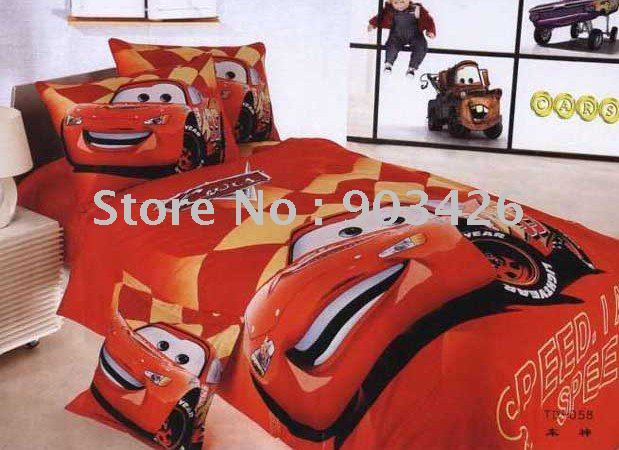 Free shipping!! Fashion 100% cotton car  bed printing sheet single  bedding set with 3pcs G0101 on sale  Wholesale