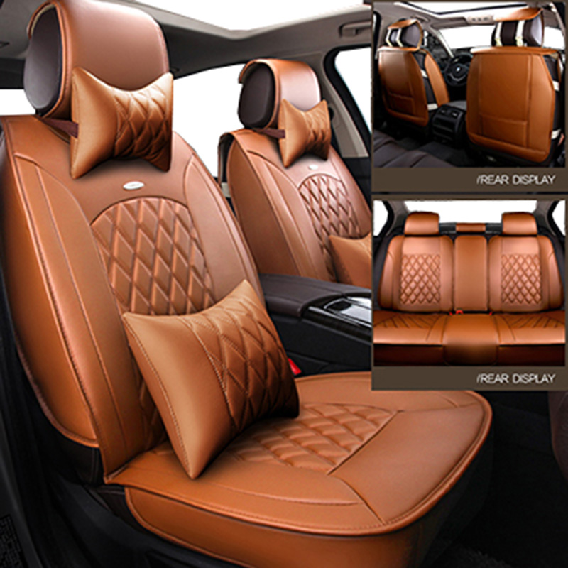 front back Universal leather car seat covers for Chevrolet aveo Cruze lacetti Captiva TRAX LOVA