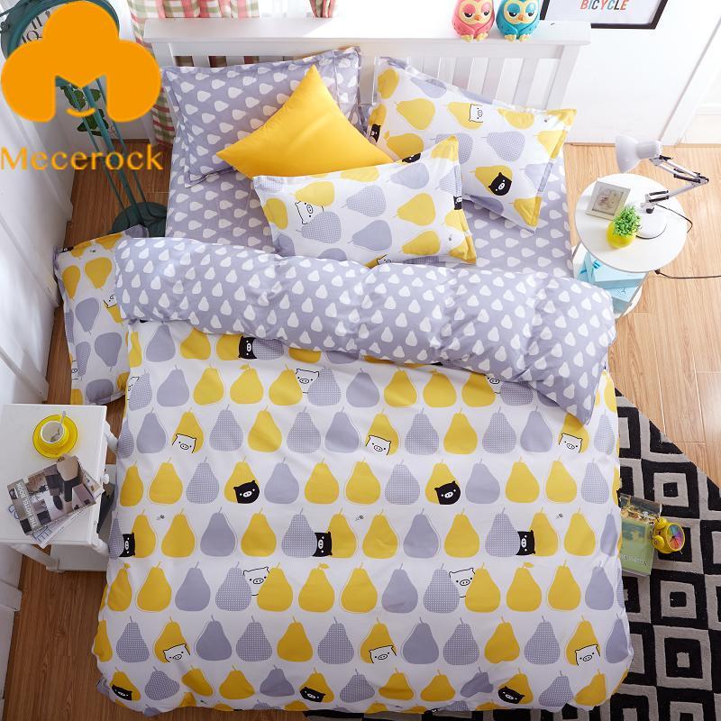 mecerock hot sale brand bedding set fruit pattern duvet cover set twin full queen king flat sheet bed linen