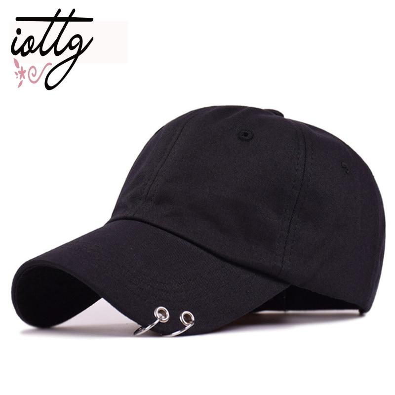 Hot selling 2017 New BTS JIMIN Fashion K POP Iron Ring Hats Adjustable   Baseball     Cap   100% Handmade Ring