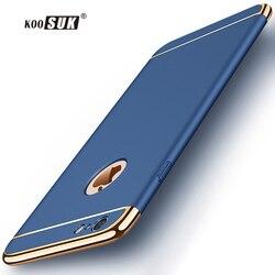 KOOSUK étui pour iphone de luxe mat 6 6 S 7 8plus étuis de mode couture couverture arrière pour iphone 8 7 6 sac de téléphone Anti-coup Funda