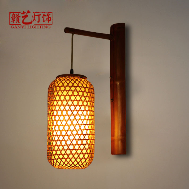 wall lamp ancient city inn retro decorative lantern Chinese restaurant, tea house, restaurant aisle corridor light