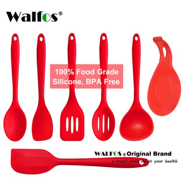 Silicone Kitchen Utensils | Walfos Silicon Kitchen Utensils Cooking Set Kitchen Accessories