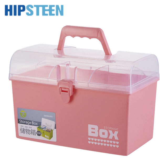 HIPSTEEN Multifunctional Portable Hand Held Double Layered PP Emergency Medicine  Storage Box Household Medical Box
